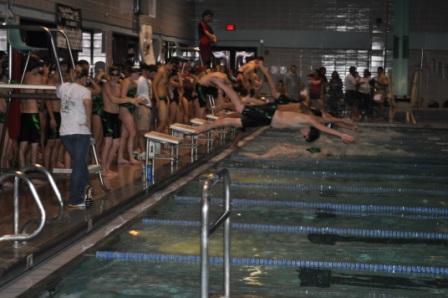 Swim Team Sweeps in First Meet of Season