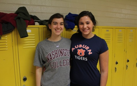 Seniors show their college spirit on College T-Shirt Day