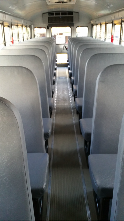 Busses unequipped with seatbelts like the FCPS bus pictured here could pose a major safety hazard.