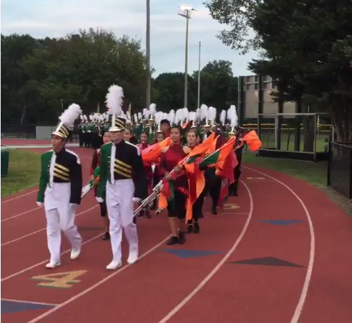 Langley Marching Saxons at a home football game in September 2016.