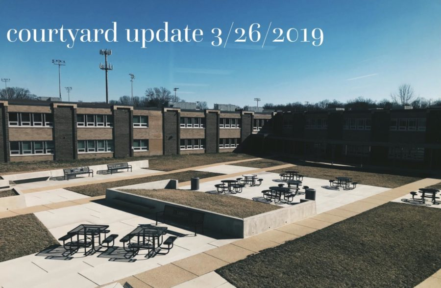 The ever-changing Langley courtyard