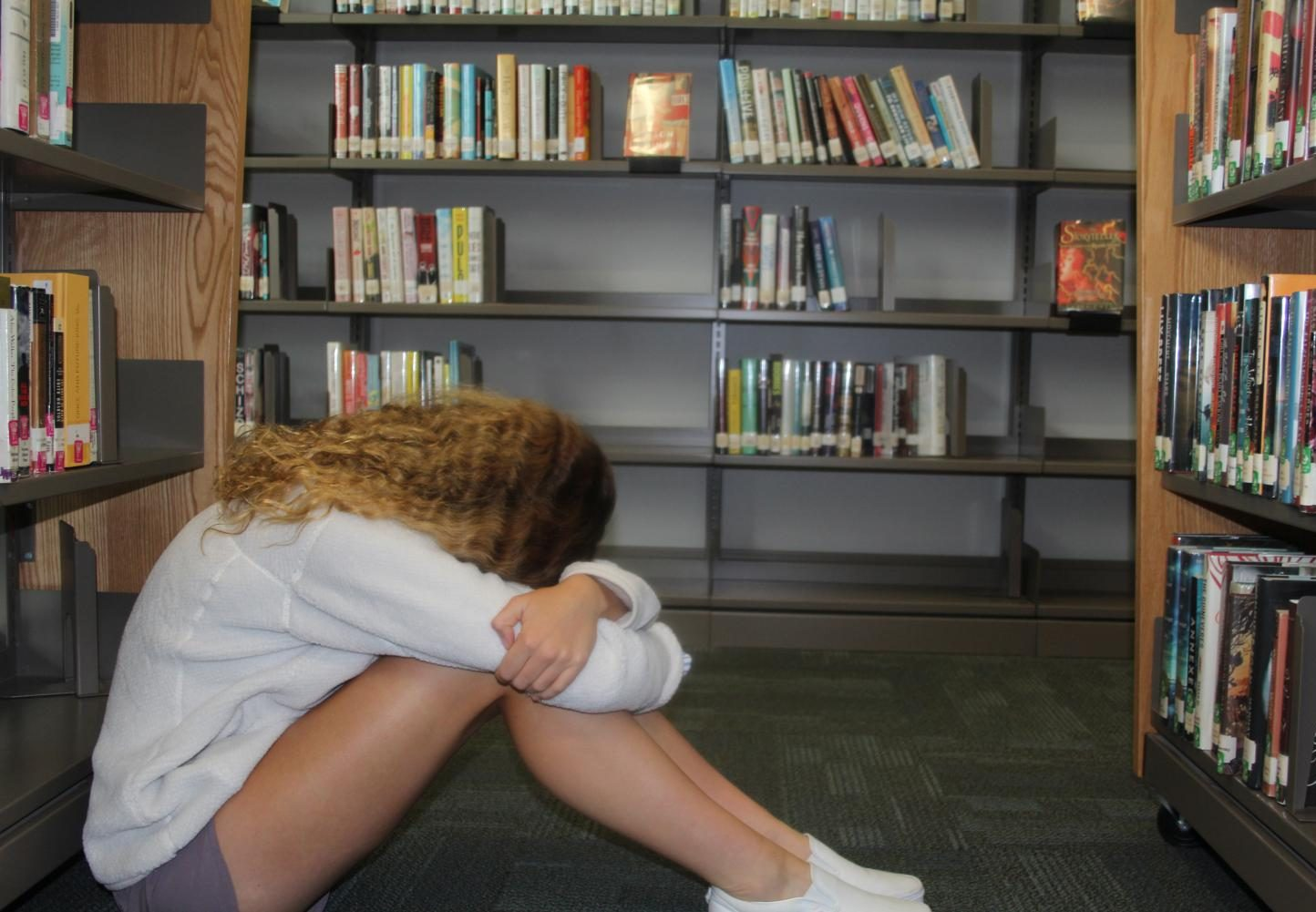 1 in 2 high school students report a high level of stress (Photo by Sydney Miller).