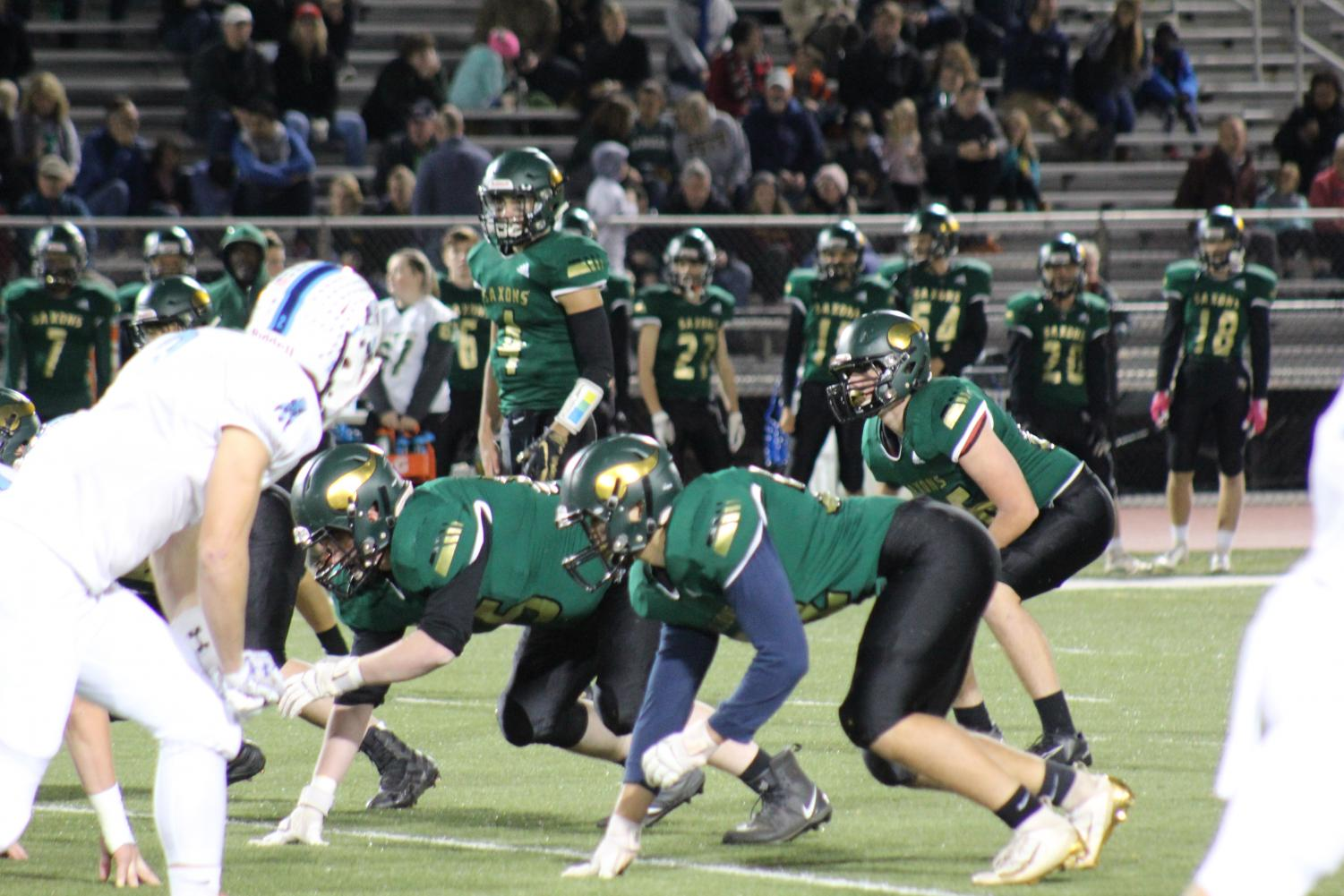 Langley's varsity football team faces off against the Yorktown Patriots (Photo by Yousef Mufti).