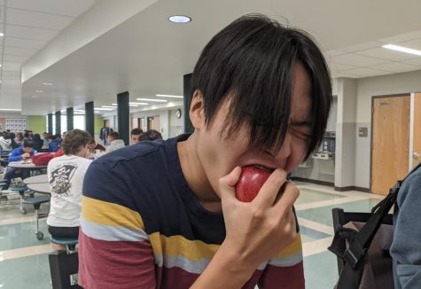 Junior Andrew Kim is behind the original Langley food review account, on Instagram as @thelhsfoodreview (Photo by Quinn Brown).