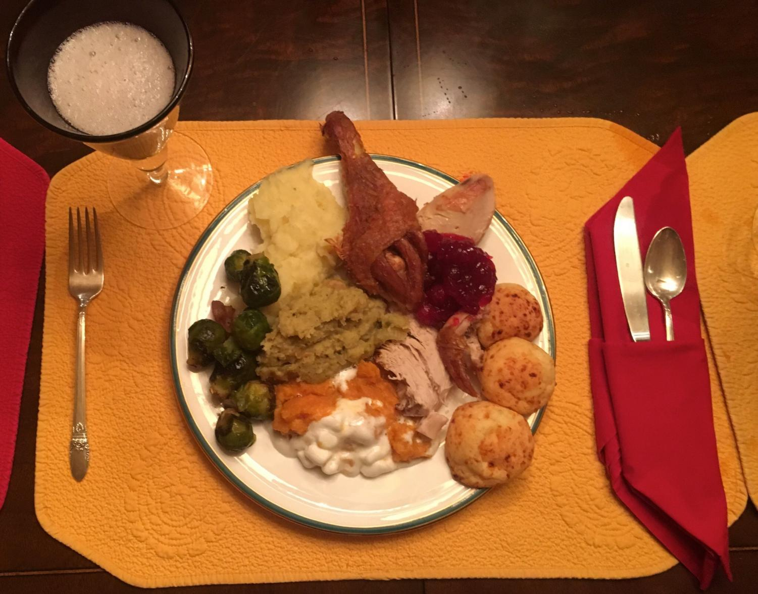 Dinner with family or friends is one of the most basic traditions many people undertake on Thanksgiving (Photo by Colleen Sherry).