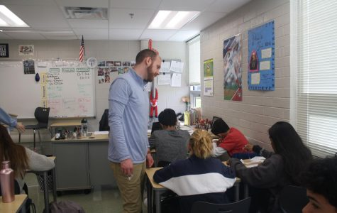 Teachers occasionally have to deal with cheating students; it's an unfortunate reality of the job. Fortunately, Mr. O'Rourke has never caught someone cheating in his class before (Photo by Lucas Aue).