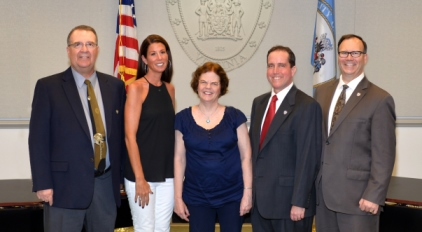 FCPS School Board members pose in the City of Fairfax (Photo via Fairfax County Government)
