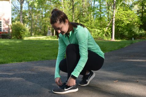 Coronavirus has forced many teens to get creative with how they maintain workouts (Photo by Greenblatt).