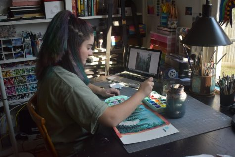 Isabella Obradovich spends hours in her art studio to intricately perfect the pieces (Photo by Koenig).