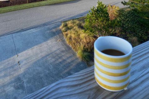 A cup of coffee to start the virtual school day may do the trick for some students. Many students have attempted to eat healthier breakfasts with the extra time and anticipate carrying this habit over into in-person instruction (Photo by Jane Fennell).