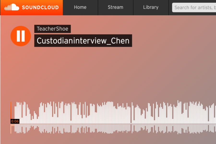 Lucy Chen's podcast regarding custodians is featured on SoundCloud (Photo via SoundCloud).